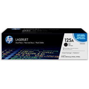 HP 125A CB540AD 2-pack Black Original LaserJet Toner Cartridges