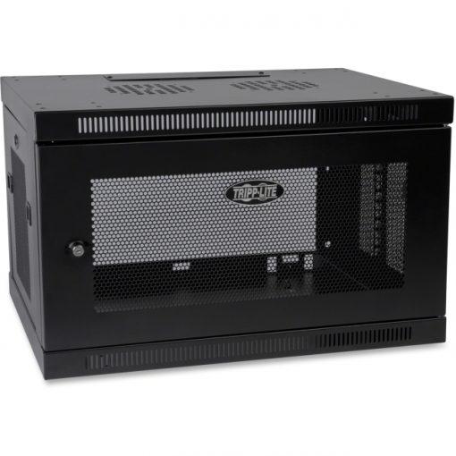 Tripp Lite SmartRack 6U Switch-Depth Wall-Mount Rack Enclosure Cabinet