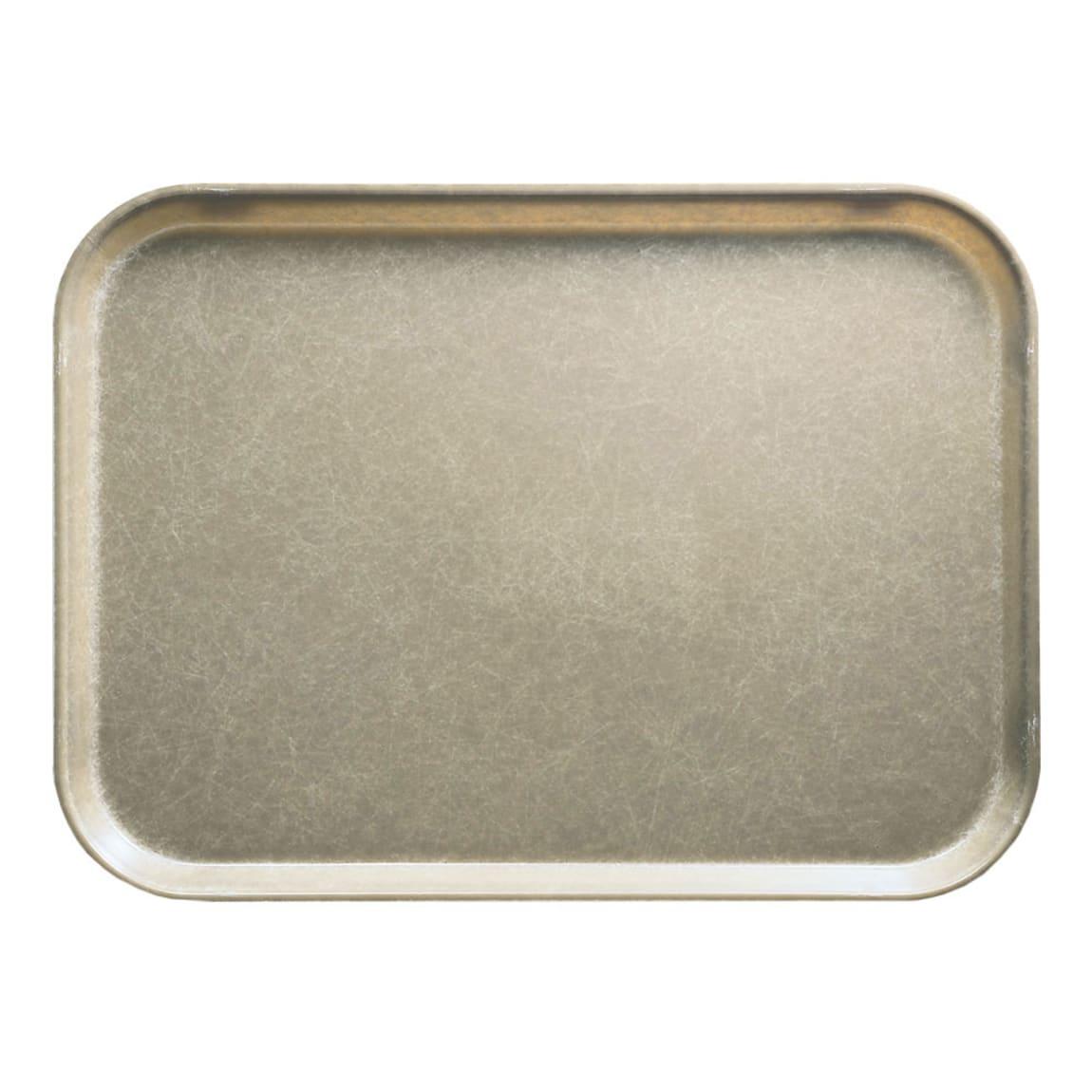 "Cambro 1014104 Fiberglass Camtray® Cafeteria Tray - 13.75""L x 10.6""W, Desert Tan"