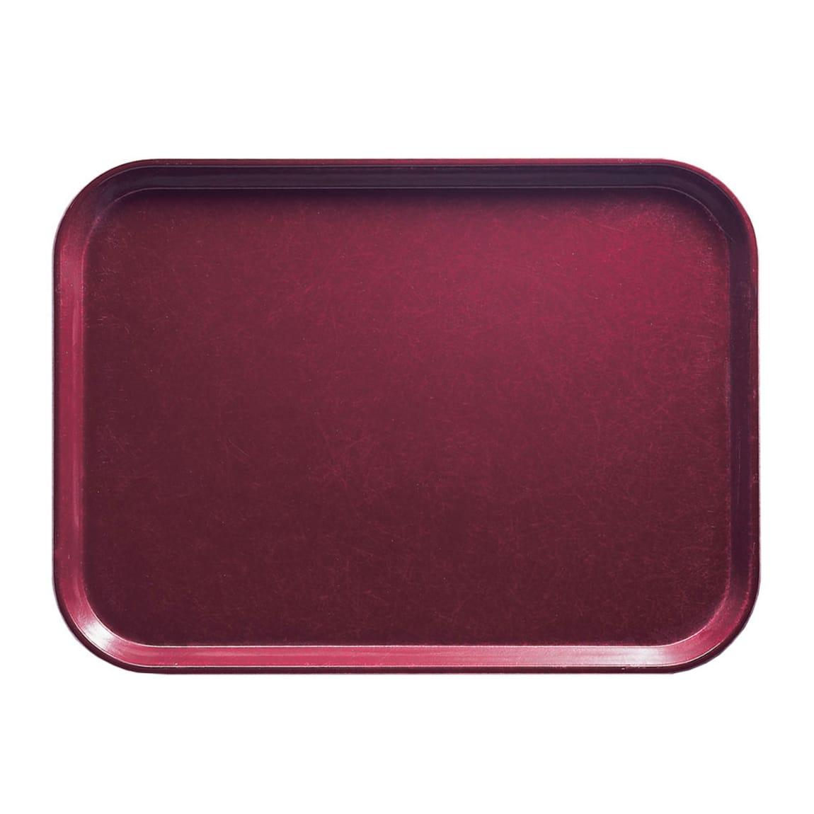 "Cambro 926522 Fiberglass Camtray® Cafeteria Tray - 25.5""L x 8.8""W, Burgundy Wine"