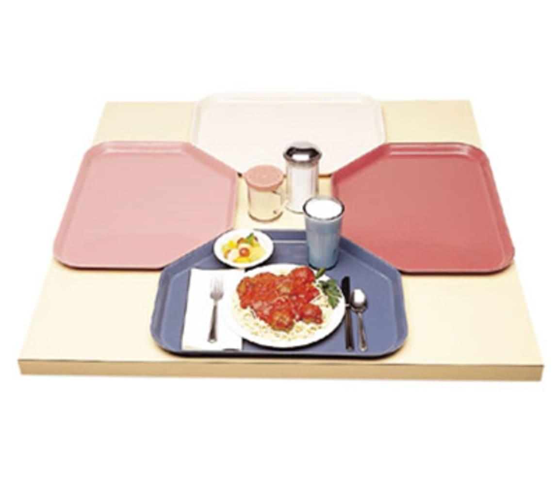 "Cambro 1520TR301 Fiberglass Camtray® Cafeteria Tray - 19.5""L x 14.5""W, Dark Basketweave"