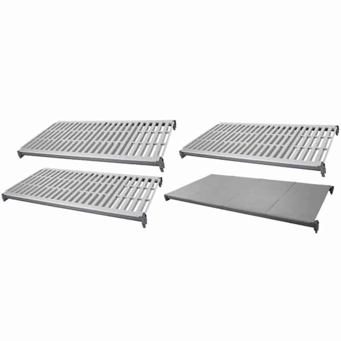 """Cambro CBSK2148VS4580 Camshelving® Basics Polymer Louvered/Solid Shelf Plate Kit - 21"""" x 48"""", Brushe..."""