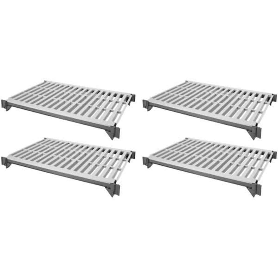 "Cambro ESK1836V4580 Camshelving® Elements Polymer Louvered Shelf Plate Kit - 18"" x 36"", Brushed Grap..."