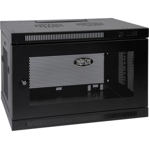Tripp Lite SmartRack 9U Switch-Depth Wall-Mount Rack Enclosure Cabinet