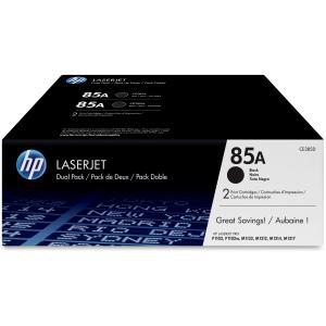 HP 85A CE285D Black Original LaserJet Toner Cartridges - 2-Pack
