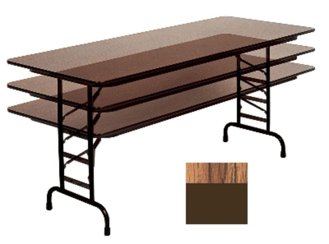 "Correll CFA3048PX 06 Folding Table w/ .75"" High-Pressure Top, Adjustable Height, 30 x 48"", Oak"