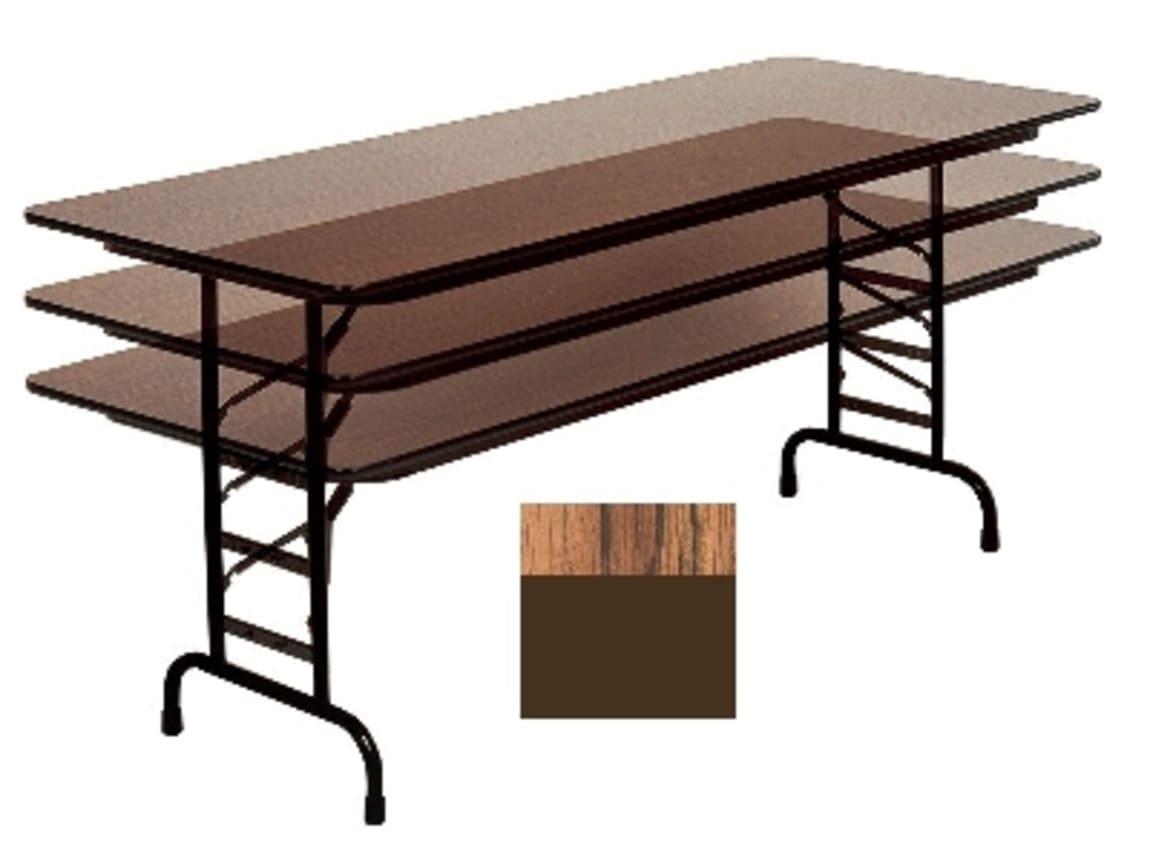 "Correll CFA3060M 06 Melamine Folding Table w/ 5/8"" Top, Adjustable Height, 30 x 60"", Medium Oak"