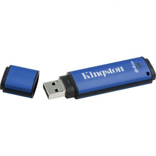 Kingston DataTraveler Vault Privacy 3.0 64GB USB 3.0 Flash Drive