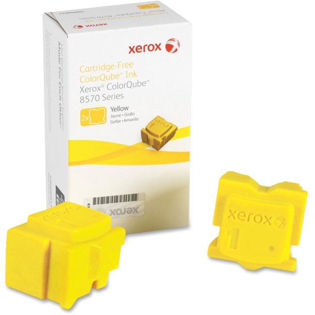 Xerox Colorqube Yellow Ink for ColorQube 8580 (2 Sticks)