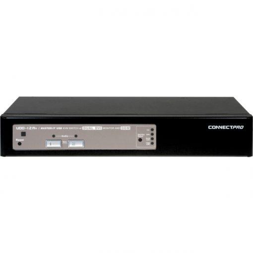 Connectpro 2-Port USB Dual DVI KVM Switch w/ DDM & Audio Cables Included