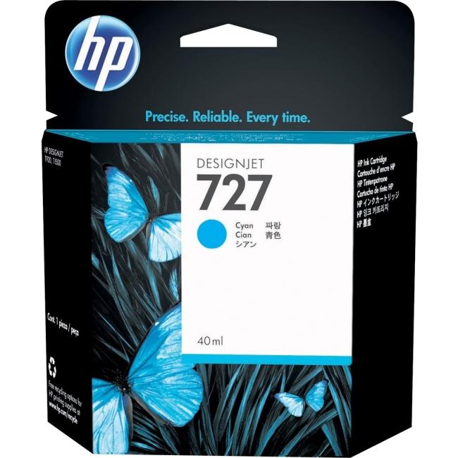 HP 727 Original Ink Cartridge Single Pack Inkjet Cyan F9J76A