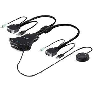 Belkin Secure Flip 2-Port VGA KVM w/ Audio and Remote Controller
