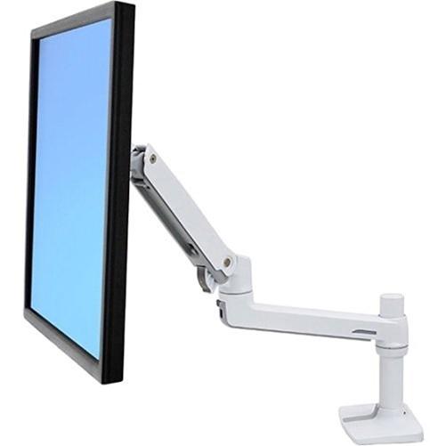 "Ergotron LX Desk Mount LCD Monitor Arm for 32"" Monitors (White)"
