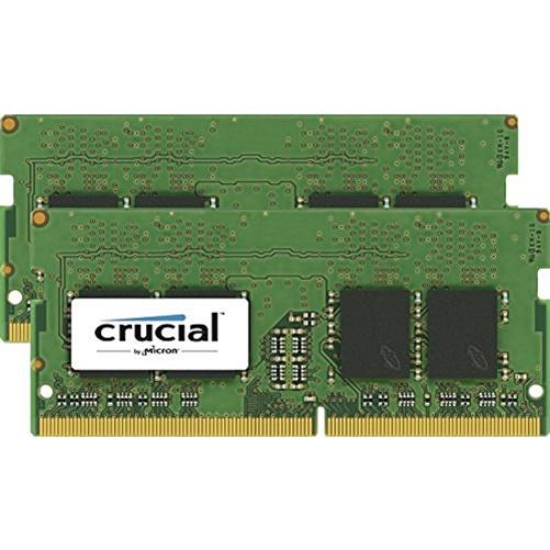 Crucial 32GB (2x16GB) DDR4 2400MHz 260-pin SoDIMM Memory Kit CT2K16G4SFD824A