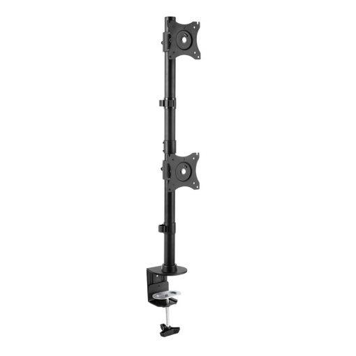 "StarTech Vertical Dual Monitor Desk Mount - 27"" Displays"