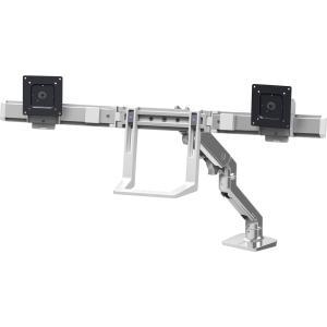 "Ergotron HX Desk Dual Monitor Arm for 32"" Monitors (Polished Aluminum)"