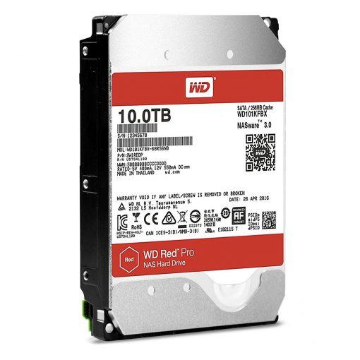 """WD Red Pro WD101KFBX 10 TB 3.5"""" Internal Hard Drive - SATA - 7200rpm"""
