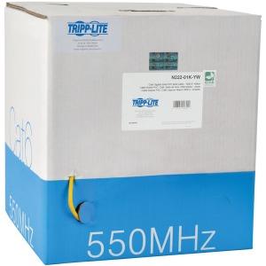 Tripp Lite 1000ft Cat6 Gigabit Bulk Solid-Core PVC Cable, Yellow