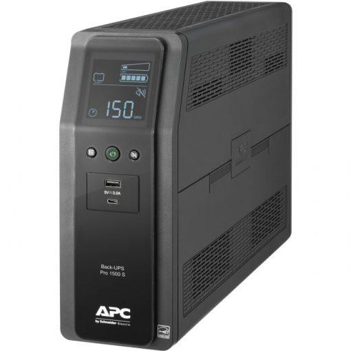 APC 1500VA Back-UPS Pro Sinewave UPS Battery Backup & Surge Protector BR1500MS