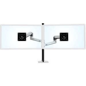 Ergotron 45-549-026 LX Dual Stacking Arm Tall Pole Desk Monitor Mount