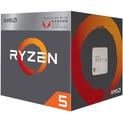 AMD Ryzen 5 2400G Processor with Radeon RX Vega 11 Graphics and Wraith Cooler
