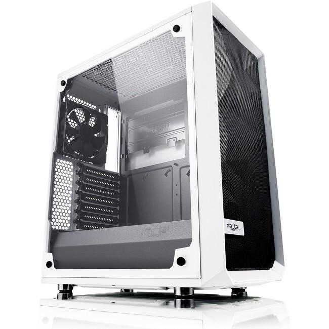 Fractal Design Meshify C White Tempered Glass Computer Case