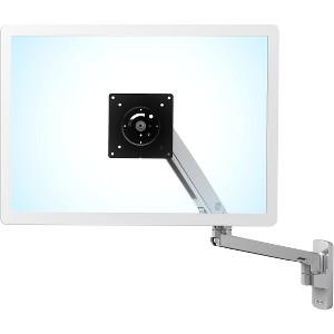 """Ergotron 45-505-026 MXV Desk Single 34"""" Monitor Arm - Polished Aluminum"""