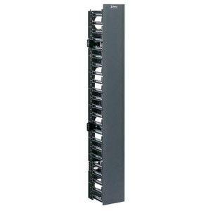 Panduit NetRunner WMPVF22E Vertical Rack Cable Manager - Black