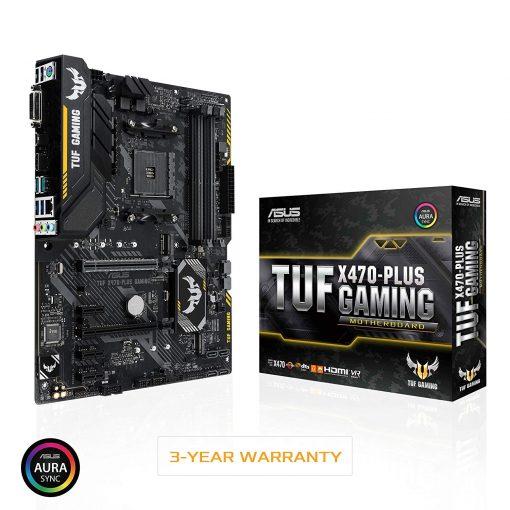 ASUS TUF X470-Plus AMD X470 AM4 Ryzen 2 DDR4 ATX Gaming Desktop Motherboard