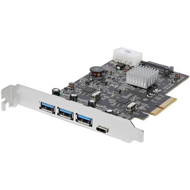 StarTech 4 Port USB 3.1 PCIe Card - 3x USB-A and 1x USB-C - 2x Dedicated Channel