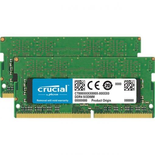 Crucial 32GB (2x16GB) DDR4 2666MHz SDRAM 260pin Non-ECC SoDIMM Memory Kit