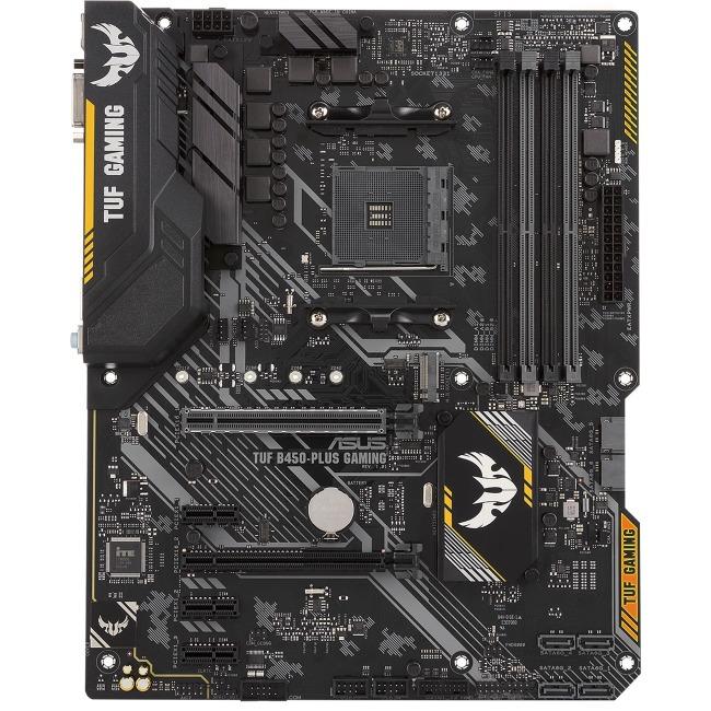 ASUS TUF B450-PLUS GAMING B450 AMD Ryzen AM4 DDR4 ATX Desktop Motherboard