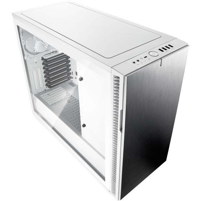 Fractal Design Define R6 USB-C White Tempered Glass ATX Mid Tower Computer Case