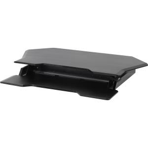 "Ergotron WorkFit Corner Standing Desk Converter w/ 30"" Screen Support - Black"