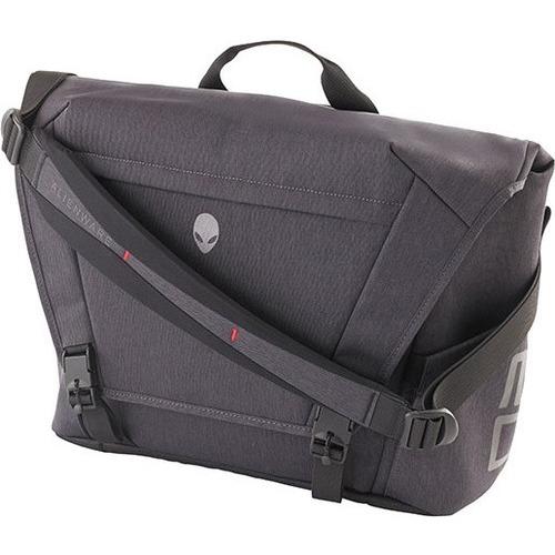 "Mobile Edge Alienware Area-51M 17.3"" Laptop Carrying Messenger Bag, Gray/Black"