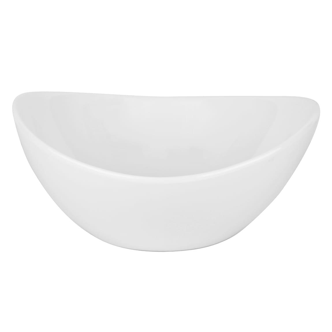 10 Strawberry Street A19480 10 oz Oval Boat Bowl - Porcelain, White