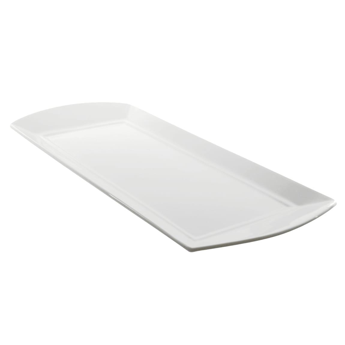"""10 Strawberry Street WEL-12REC Rectangular Whittier Elite Platter - 11.63"""" x 5"""", Porcelain, White"""