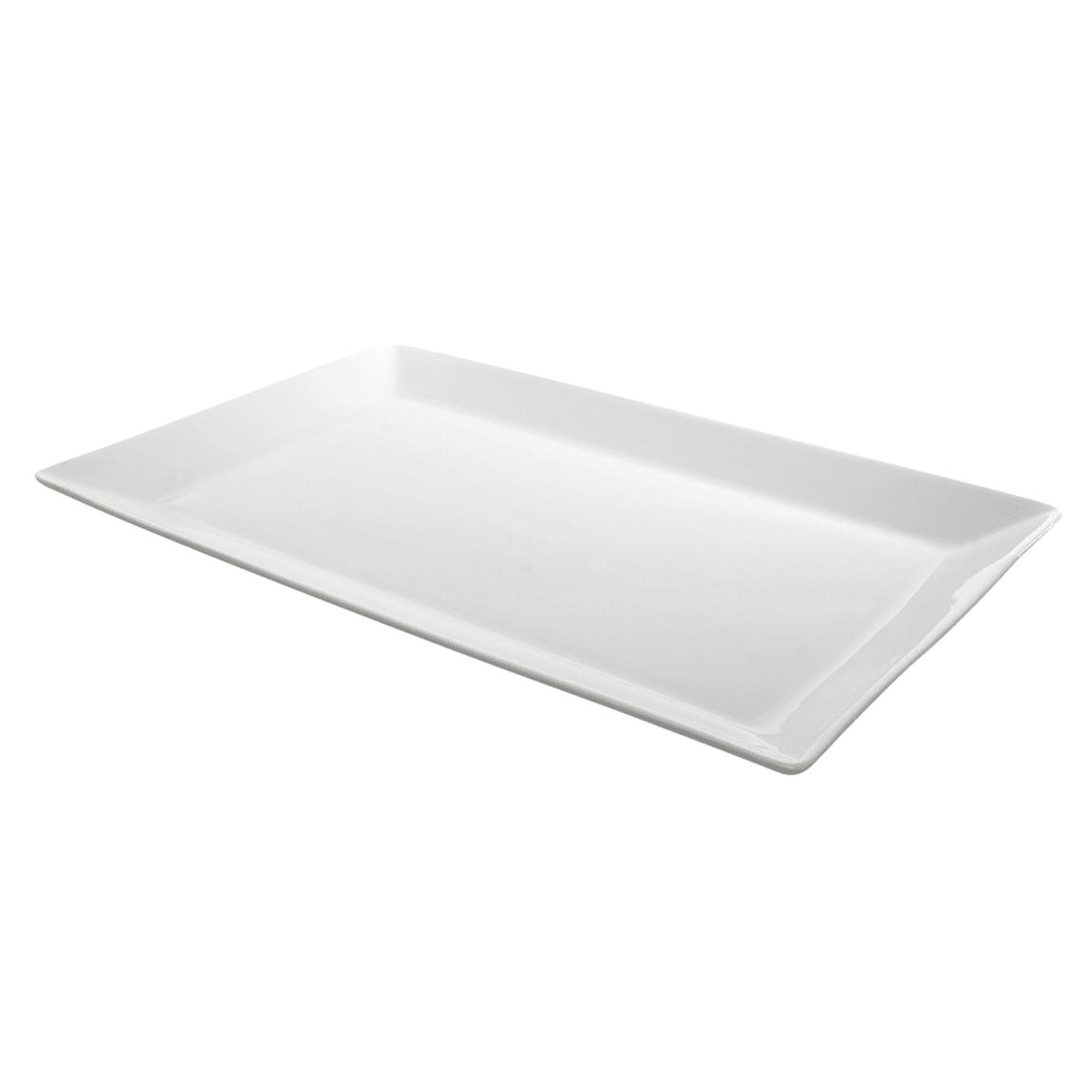 """10 Strawberry Street WEL-15REC Rectangular Whittier Platter - 14.75"""" x 9.38"""", Porcelain, White"""