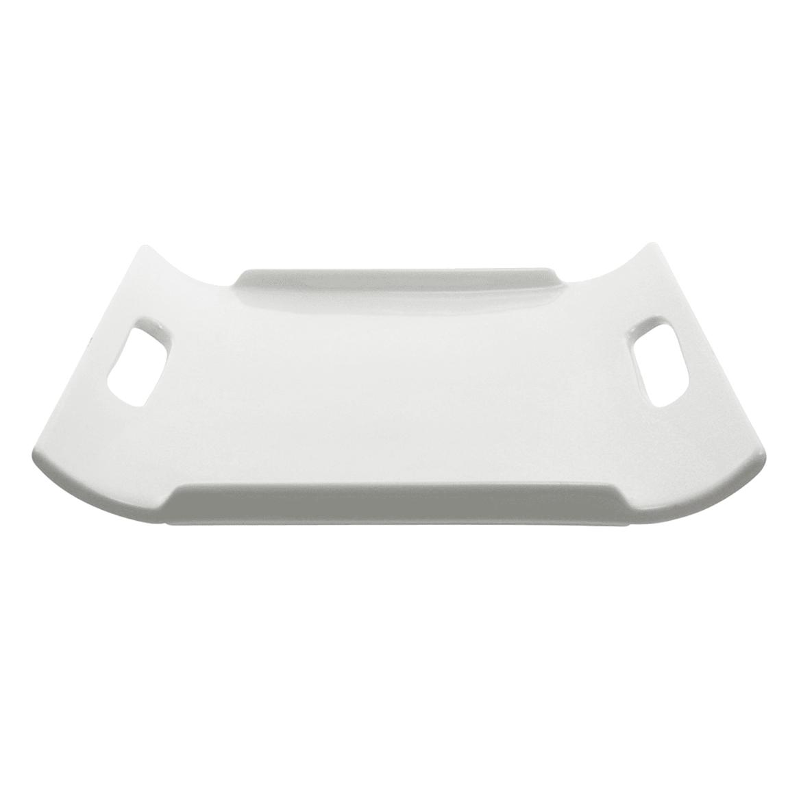 """10 Strawberry Street WTR-10-9RECHNDL Rectangular Whittier Platter - 10"""" x 9"""", Porcelain, White"""
