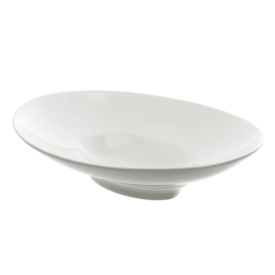 10 Strawberry Street WTR-10OVLBWL 4 oz Oval Bowl - Porcelain, White