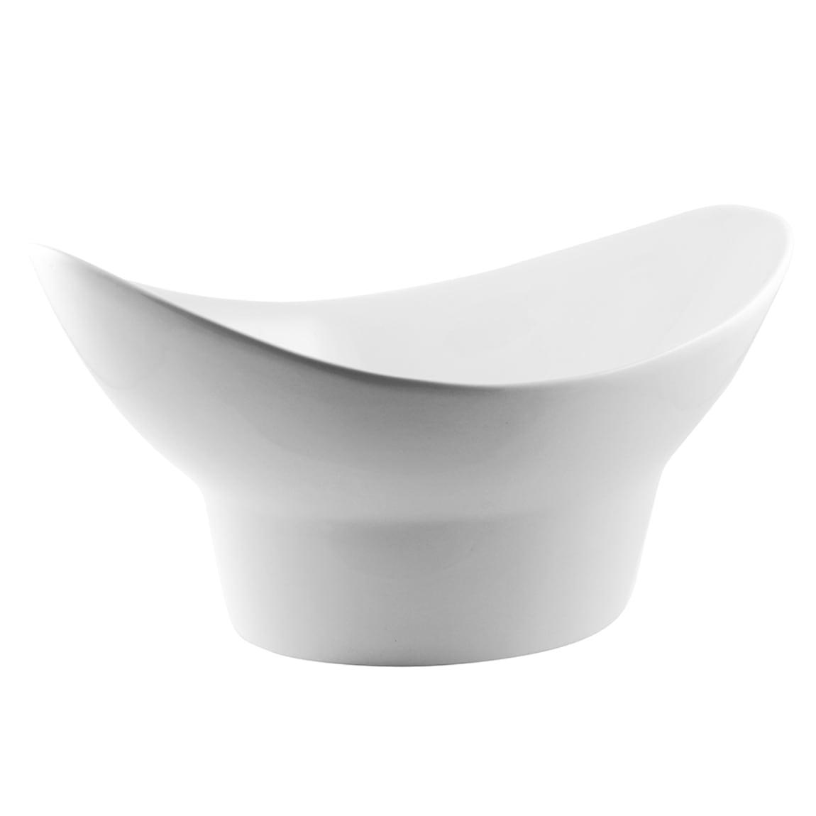 10 Strawberry Street WTR-11FTDOVLBWL 40 oz Oval Bowl - Porcelain, White