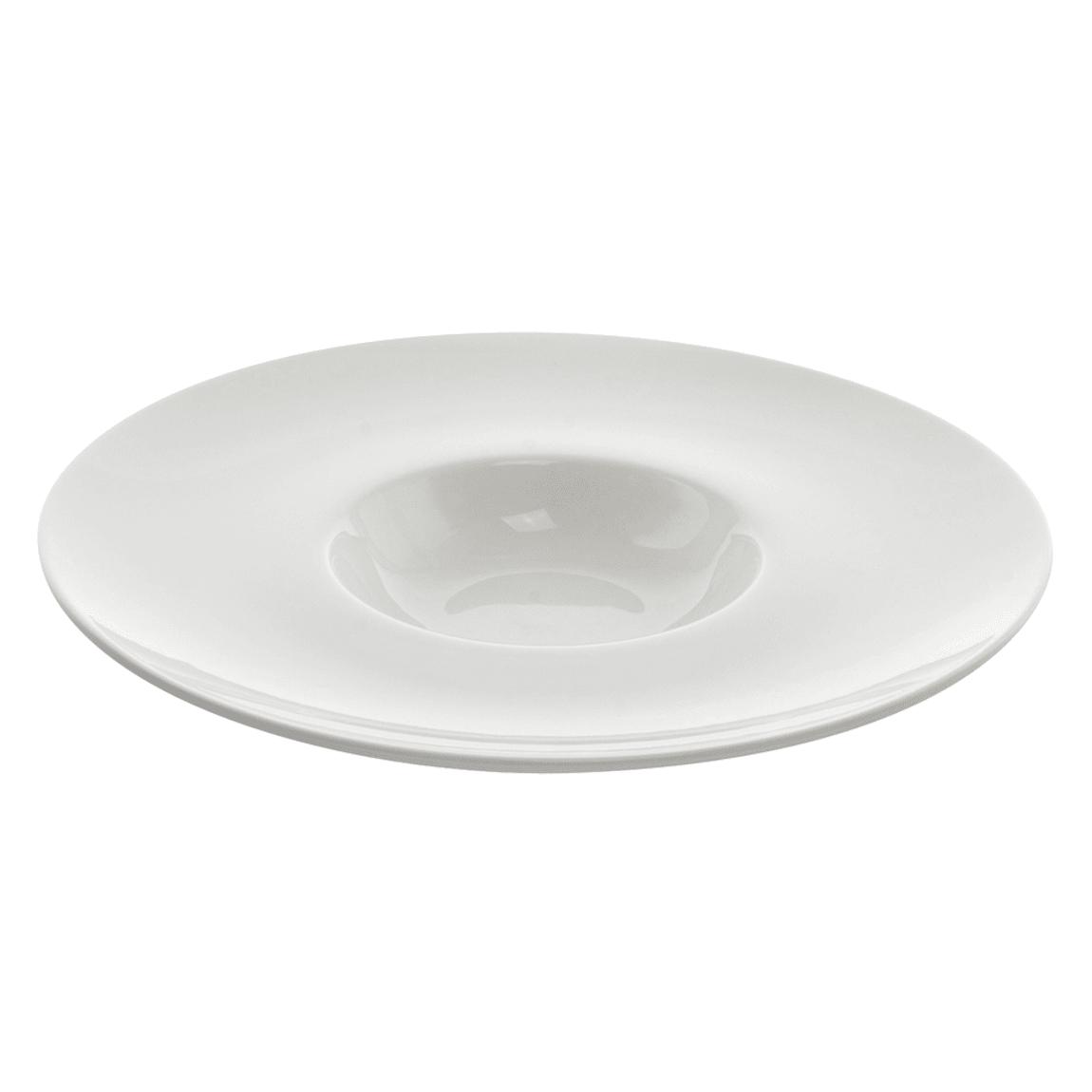 10 Strawberry Street WTR-11WIDERBWL 6 oz Round Bowl - Porcelain, White
