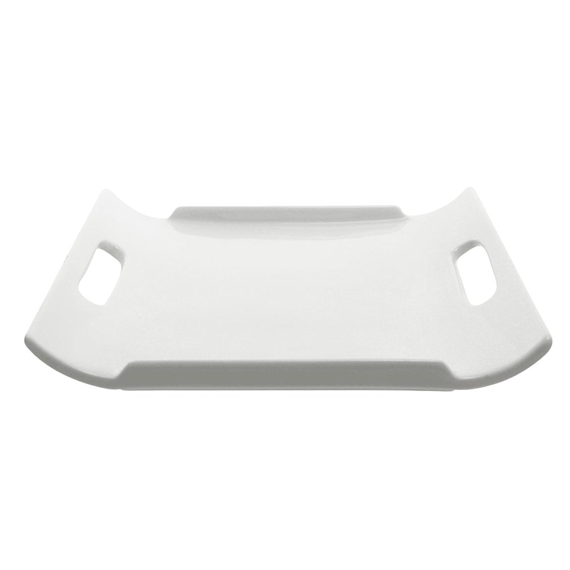 """10 Strawberry Street WTR-12-11RECHNDL Rectangular Whittier Platter - 12"""" x 10.75"""", Porcelain, White"""