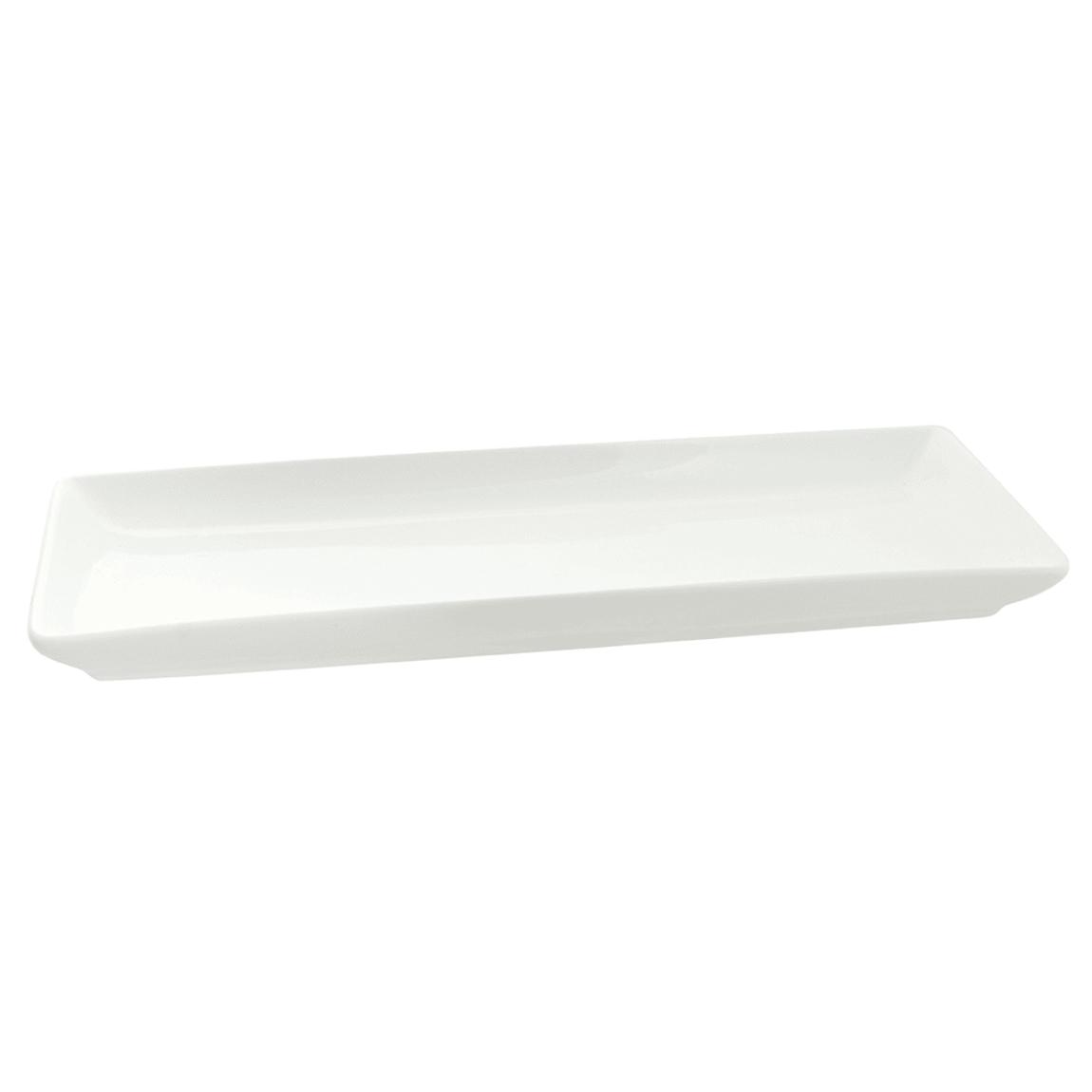 """10 Strawberry Street WTR-13CPREC Rectangular Whittier Platter - 13.5"""" x 5.5"""", Porcelain, White"""