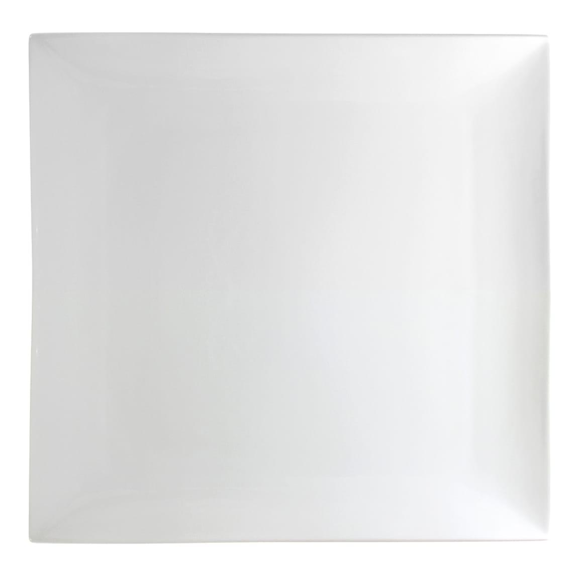 """10 Strawberry Street WTR-14CPSQ 14"""" Square Whittier Platter - Porcelain, White"""