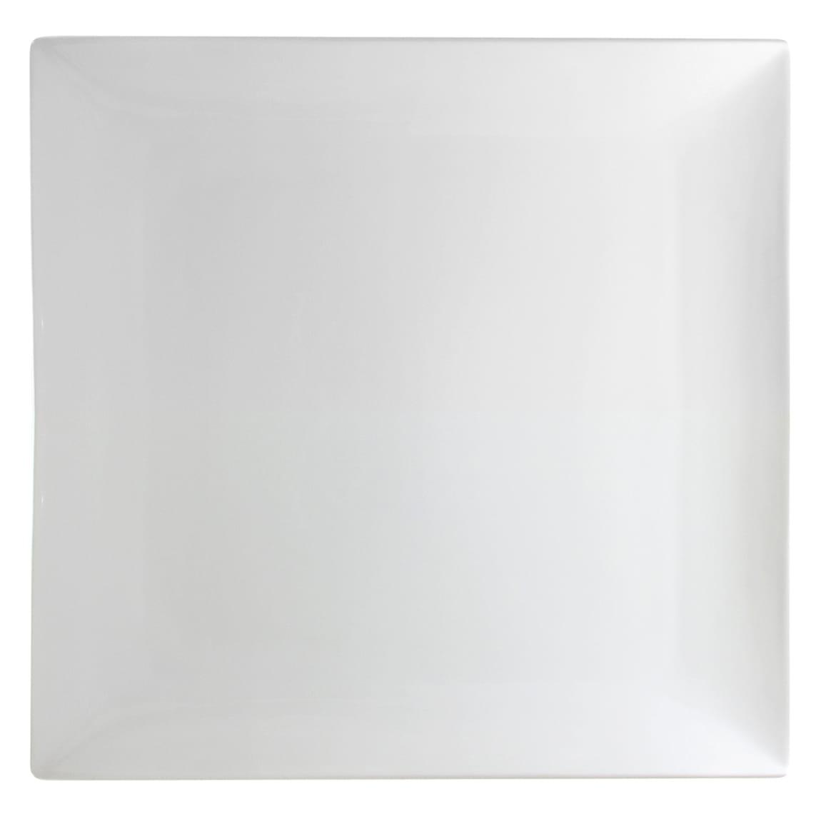 """10 Strawberry Street WTR-16CPSQ 15.5"""" Square Whittier Platter - Porcelain, White"""