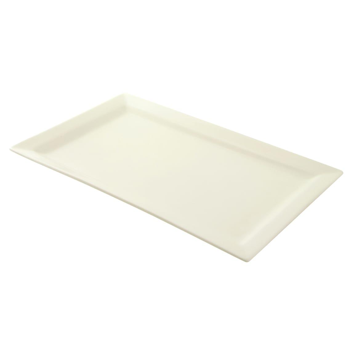 """10 Strawberry Street WTR-17-11REC Rectangular Whittier Platter - 17.75"""" x 10.63"""", Porcelain, White"""