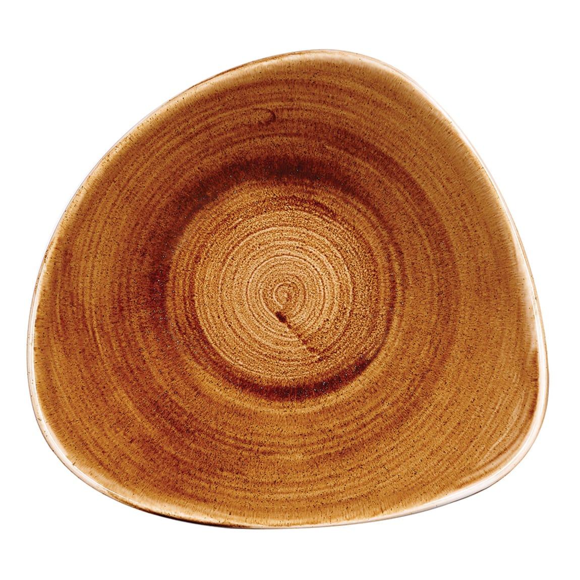 Churchill PAVCTRB91 21 oz Triangular Patina Bowl - Ceramic, Vintage Copper
