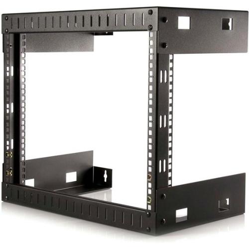 StarTech 8U Open Frame Wallmount Equipment Rack - 12in Deep - 177 lb - Black