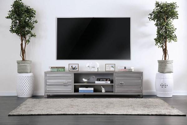 Furniture of America Mccredmond Silver TV Stand